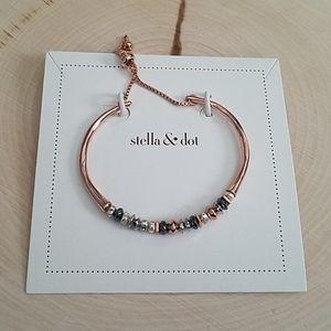 Stella & Dot Rose Gold Tone Slide Bracelet NEW